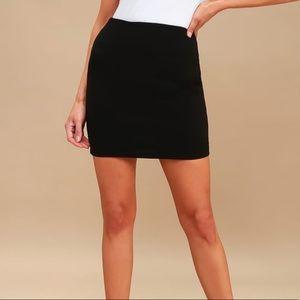 Dresses & Skirts - 💄black velvet mini skirt